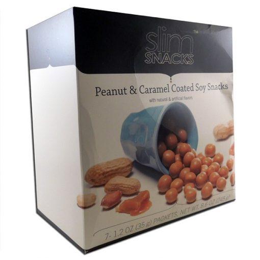 Peanut and Caramel Coated Soy Snacks