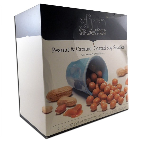 Peanut and Caramel Coated Soy Snacks
